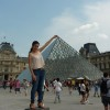 """Carmelo & Theresa S., Collierville, Tennessee: """"During our stay at the Royal Regency in Vincennes (Paris), we had fun posing while pinching the Louvre Pyramid"""""""