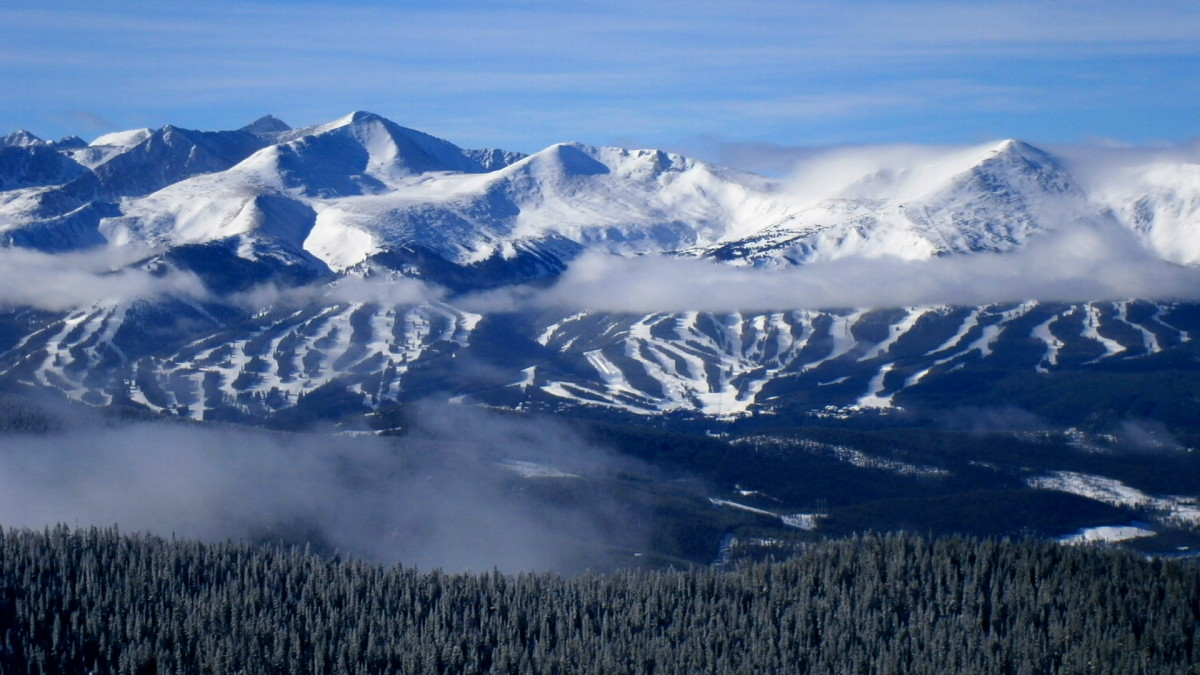 """Susan M. - """"A skier's view of Breckenridge, Colorado, on a clear day from the peaks of Keystone Resort."""""""