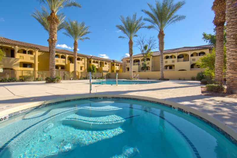 Scottsdale Resort- Guests can enjoy the outdoor pools & hot tubs around the resort