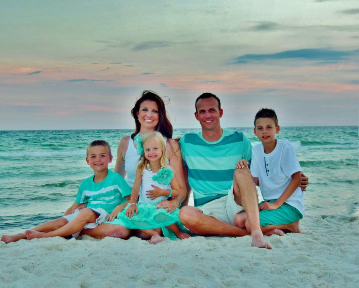 """I set up my tripod and shot this picture of my family on the beach by our condo in Panama City Beach, Florida, last week - loved it there!"""